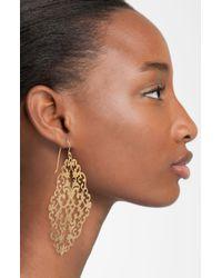 Argento Vivo   Metallic 'Artisanal Lace' Diamond Shape Earrings   Lyst
