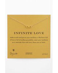 Dogeared | Metallic 'reminder - Infinite Love' Pendant Necklace | Lyst