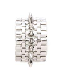 Eddie Borgo - Metallic Legged Cone Bracelet Silver - Lyst
