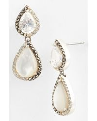 Judith Jack | Metallic Amore Double Teardrop Earrings | Lyst
