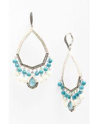 Judith Jack | Metallic Large Teardrop Chandelier Earrings | Lyst