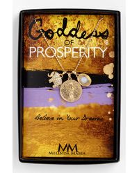 Melinda Maria | Metallic Goddess Of Prosperity Cluster Pendant Necklace | Lyst