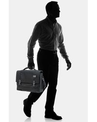 Tumi | Black Ttech By Networklaptop Flap Briefcase for Men | Lyst