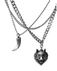 ASOS - Metallic Gathered Necklace with Wolf for Men - Lyst