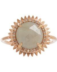 Eva Fehren - Pink Grey Sapphire Champagne Diamond Nina Ring - Lyst