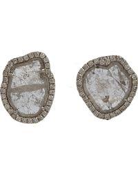 Monique Péan - White Diamond Slice Pave Diamond Small Stud Earrings - Lyst