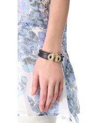 Alexis Bittar - Black Mod Large Knot Bracelet - Lyst