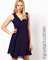 Tatty Devine - Blue Asos Maternity Knot Front V Back Dress - Lyst