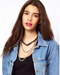 ASOS - Metallic Torque Chain Necklace - Lyst