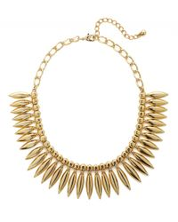 BaubleBar | Metallic Midas Leaf Collar | Lyst