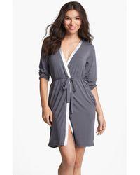Calvin Klein | Gray 'essentials' Short Robe | Lyst