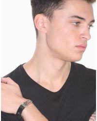 Dolce & Gabbana Metallic Leather Radiator Cuff Bracelet for men