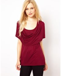 French Connection | Red Draped Top | Lyst