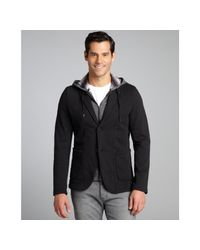 Howe - Black Cotton Blend 'Everything Changes' Hooded Two Button Blazer for Men - Lyst