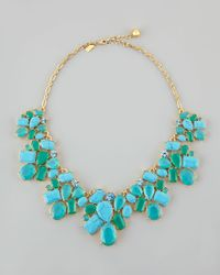 Kate Spade | Green Crystal Cluster Bib Necklace | Lyst