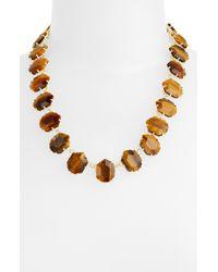 Kendra Scott | Metallic Sam Stone Necklace | Lyst