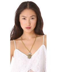 Lulu Frost | Metallic Crest Pendant Necklace | Lyst