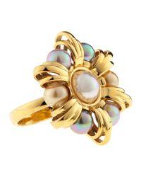 Majorica - Metallic Anastasia Pearl Ring - Lyst