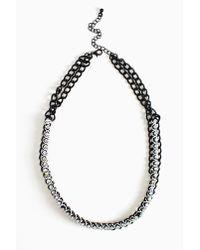 Nasty Gal - Black Crystal Cosmos Necklace - Lyst