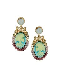 TOPSHOP | Multicolor Cameo Stud Earrings | Lyst