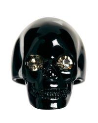 Wildfox - Black Skull Ring with Swarovski Crystals - Lyst