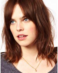 Zoe & Morgan - Metallic Exclusive For Asos Mini Skull Pendant Necklace - Lyst