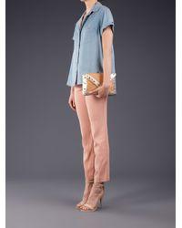 Elaine Turner - Brown Bella Studded Envelope Clutch - Lyst