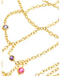 Marie-hélène De Taillac - Multicolor Multicoloured Gem Stone and Gold Bracelet - Lyst