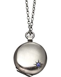 Astley Clarke | Metallic Astley Black Ruthenium Locket | Lyst