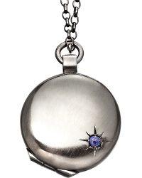 Astley Clarke | Metallic Astley Black Ruthenium Locket | Lyst