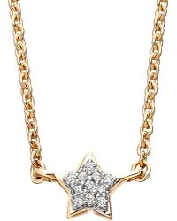 Astley Clarke | Metallic Diamond Star 14ct Gold Pendant Necklace | Lyst