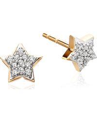 Astley Clarke | Metallic Diamond Star 14ct Gold Stud Earrings - For Women | Lyst