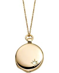 Astley Clarke | Metallic Astley 18ct Gold Locket | Lyst