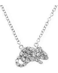 Qeelin - Petite Rat 18ct White Gold Diamond Pendant Necklace - Lyst