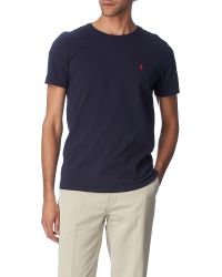 Ralph Lauren | Gray Logo-embroidered Cotton-jersey T-shirt - For Men for Men | Lyst