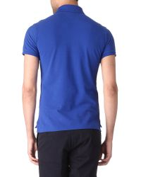 Ralph Lauren | Blue Slim Fit Yacht Club Polo Shirt for Men | Lyst