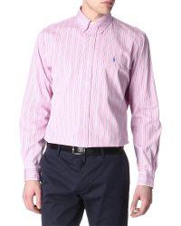 Ralph Lauren - Pink Customfit Twill Shirt for Men - Lyst