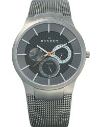 Skagen - Gray 809xlttm Brushed Titanium Chronograph Watch for Men - Lyst