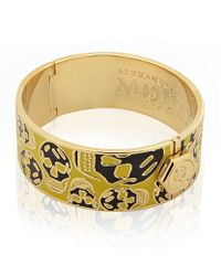 Alexander McQueen - Yellow Medium Enamelled Skull Bangle - Lyst