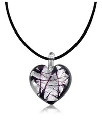 Antica Murrina - Black Passione - Murano Glass Heart Pendant - Lyst