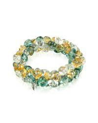 Antica Murrina - Gray Rubik - Murano Glass Drops Stretch Bracelet - Lyst
