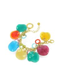 Antica Murrina | Multicolor Shiva - Murano Glass Charm Bracelet | Lyst