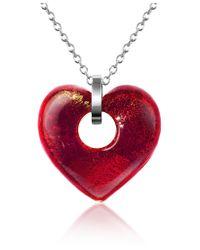 Antica Murrina - Red Heartbeat Murano Glass Heart Necklace - Lyst