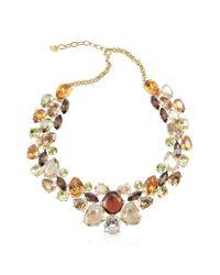 AZ Collection - Metallic Multicolor Crystal Necklace - Lyst