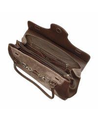 Buti - Dark Brown Classic Suede and Leather Satchel Handbag - Lyst