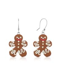Dolci Gioie   Red Gingerbread Man Earrings   Lyst