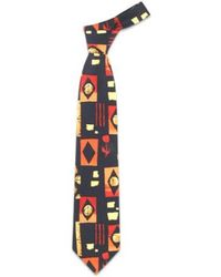 FORZIERI - Blue Squares And Tulips Silk Tie for Men - Lyst