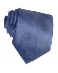 FORZIERI - Shimmering Dark Blue Textured Silk Tie for Men - Lyst