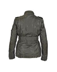 FORZIERI - Dark Brown Leather Jacket W/ Quilted Lining - Lyst