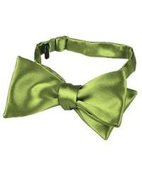 FORZIERI - Light Green Solid Silk Self-tie Bowtie for Men - Lyst